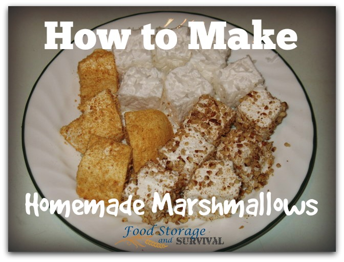 How to make homemade marshmallows.  Three ingredients, step by step and so much tastier than store bought!