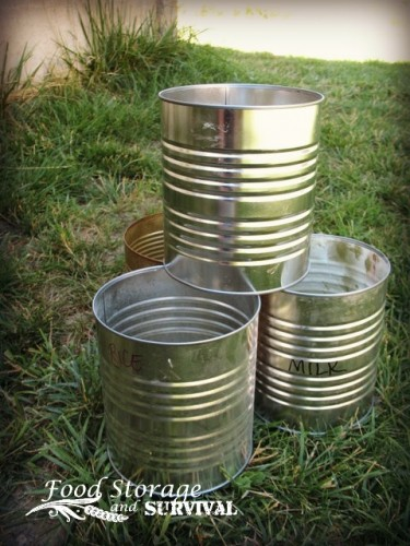 Don't throw away those empty cans before you check out these great uses for empty food storage cans!  Food Storage and Survival