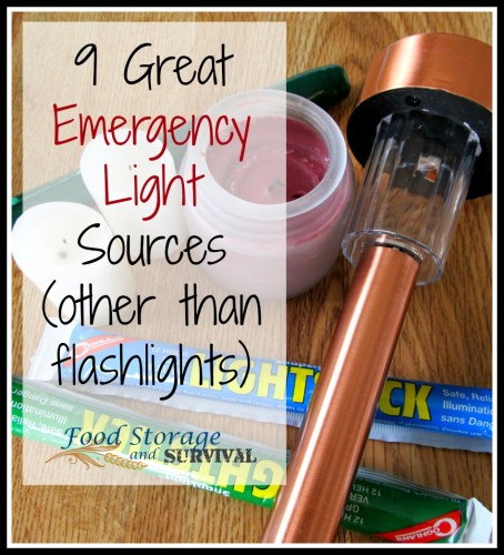 Nine great emergency light sources other than flashlights!  And you probably already have some of these! Food Storage and Survival