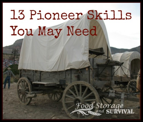 13 pioneer skills you may need! Food Storage and Survival