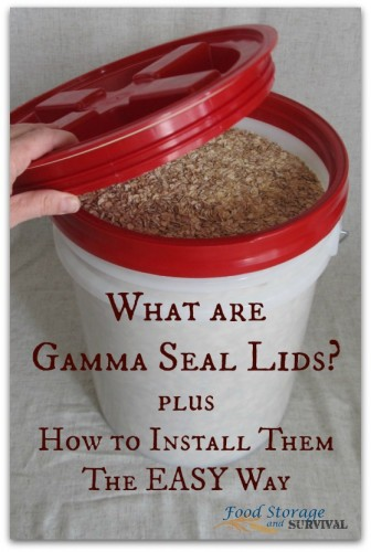 What are Gamma Seal Lids? Why you want them for your food storage AND how to install them the EASY way! Love these lids!