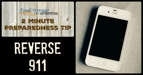 2 minute preparedness tip! Reverse 911: What it is and why you want to get registered