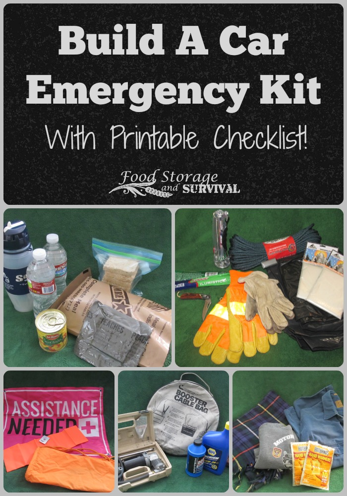 Assembling a Car Emergency Kit with Printable Checklist