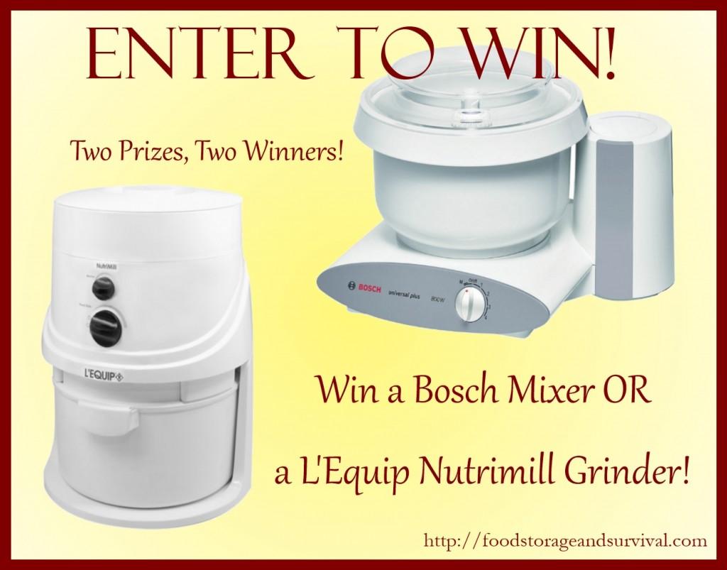 bosch mixer giveaway l'equip nutrimill giveaway