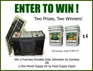 Huge giveaway through 9/30/13!