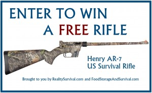 Enter to win a FREE AR-7 US Survival Rifle 10/1/13-10/8/13  Food Storage and Survival