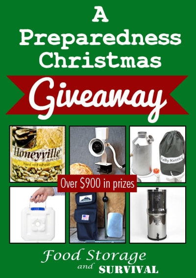 Mega Christmas Preparedness Giveaway!  Food Storage and Survival