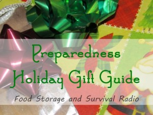 Preparedness Holiday Gift Guide--Food Storage and Survival Radio