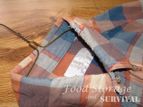 How to Repair a Frayed Shirt Collar--Food Storage and Survival