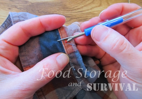 How to Resurrect a Frayed Shirt Collar--Food Storage and Survival