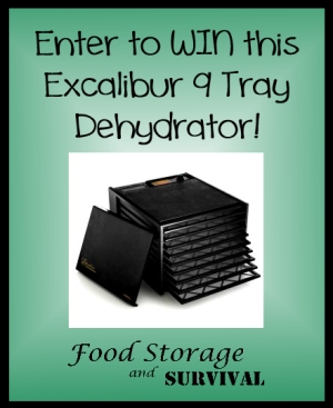 Excalibur Dehydrator Giveaway!  Food Storage and Survival