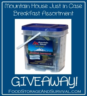 Mountain House Just In Case Breakfast Bucket Review and Giveaway