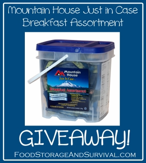 Mountain House Just in Case Breakfast Bucket Giveaway!  Ends 1/21/14