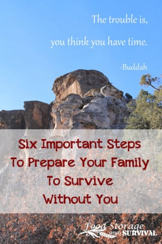Six Important Steps to Prepare Your Family to Survive Without You--Food Storage and Survival