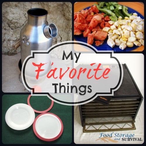 My Favorite Things! Preparedness items, job, preparedness items, TV show, more preparedness items!  Food Storage and Survival Radio