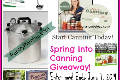 Super Spring Into Canning Giveaway!
