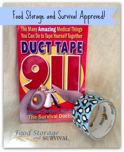 Duct tape for medical use?  You bet! Get this great book by Dr. James Hubbard