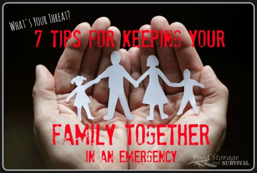 Seven Tips for Keeping Your Family Together in an Emergency--Food Storage and Survival