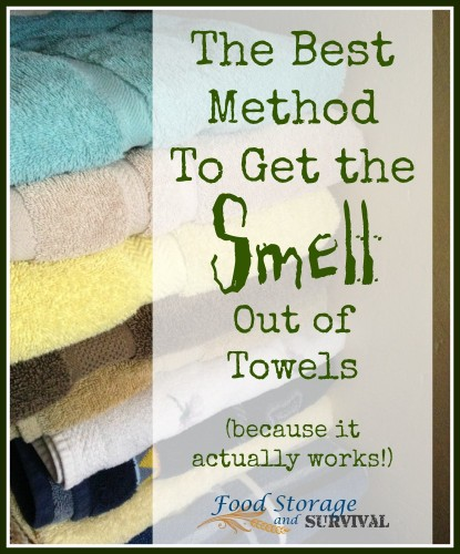 The best method to get the SMELL out of towels (because it actually works!) -- Food Storage and Survival