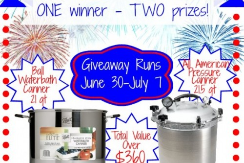 All American and Stainless Water Bath Canner Giveaway!