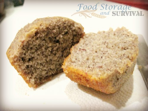 Making cornmeal muffins from Bloody Butcher Corn -- Food Storage and Survival