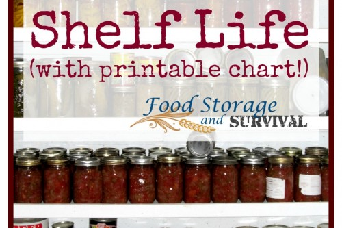 Food Storage Shelf Life (plus printable chart!)