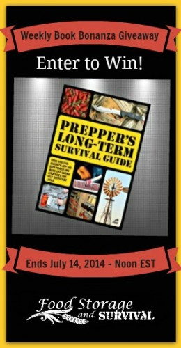 Book bonanza giveaway--Prepper's Long Term Survival Guide--Ends 7/14/14