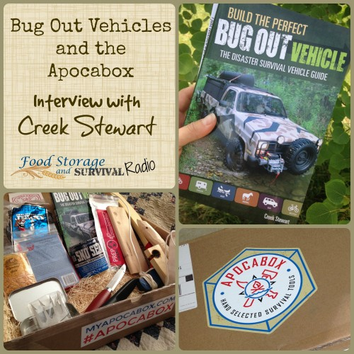 Bug Out Vehicles and the Apocabox--Interview with Creek Stewart--Food Storage and Survival Radio
