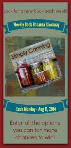 Simply Canning reference book giveaway! Food Storage and Survival