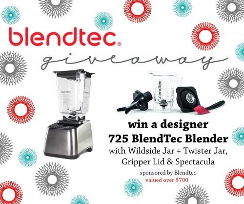 Win a Designer BlendTec Blender!