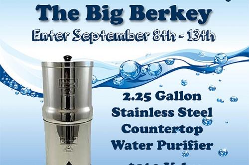 Big Berkey Water Purifier Giveaway