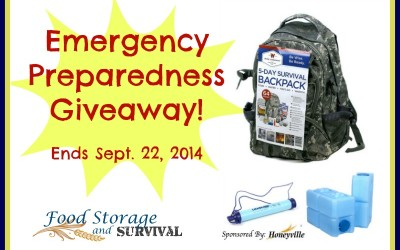 Emergency Preparedness Giveaway PLUS Honeyville Coupon Code!