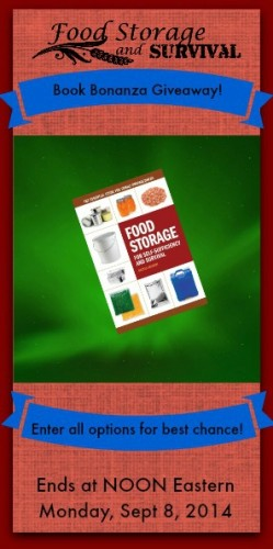Food Storage for Self-Sufficiency and Survival Giveaway! Ends 10/8/14