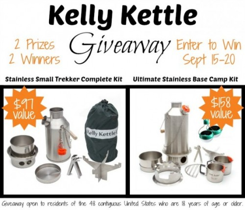 Kelly Kettle Giveaway!  Ends 9/20/14