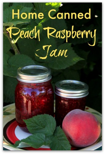 Fabulous Home Canned Peach Raspberry Jam.  So delicious!