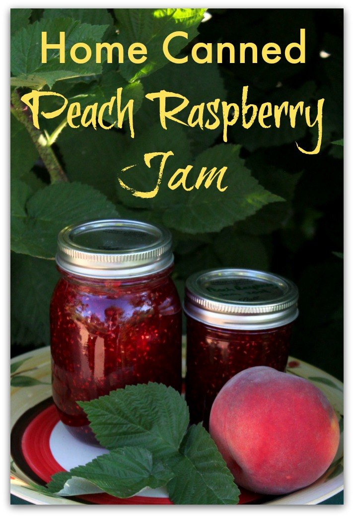Fabulous Home Canned Peach Raspberry Jam