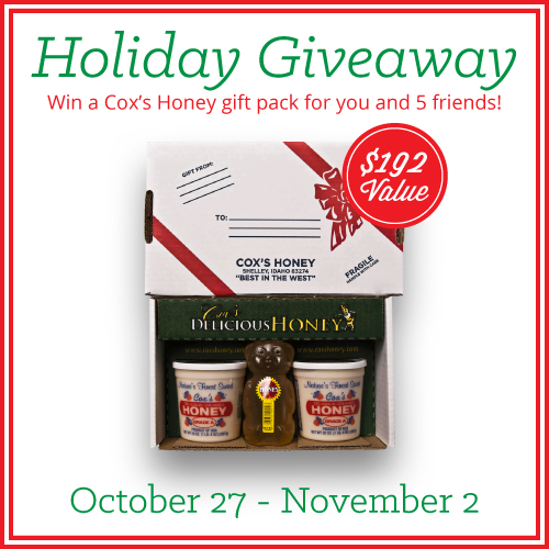 Holiday Honey Giveaway for you and five of your friends!
