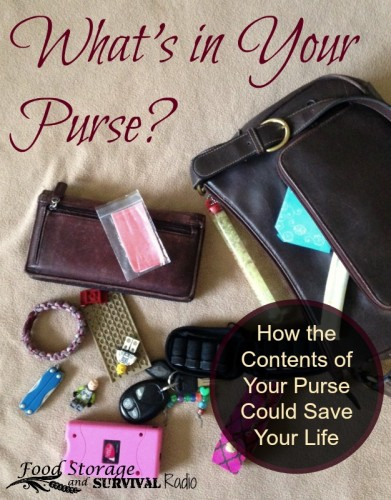 What's in Your Purse?  What to put in your purse and how to use what you have to survive! Food Storage and Survival Radio