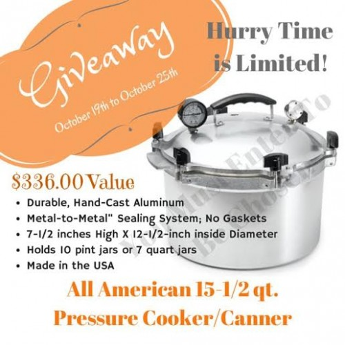 All American Pressure Canner giveaway!