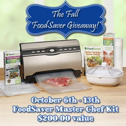 FoodSaver giveaway! Ends October 15th 2014