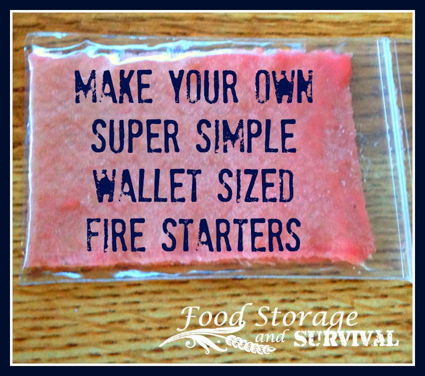 Make Your Own Super Simple Wallet-Sized Fire Starters