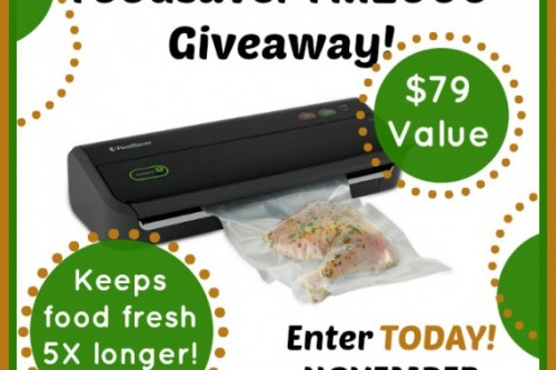 FoodSaver Vacuum Sealer Giveaway!