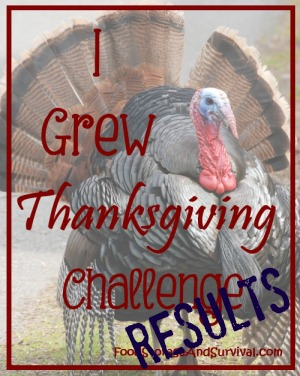 Food Storage and Survival Radio Episode 80: I Grew Thanksgiving Results