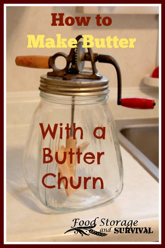 How to make butter with a butter churn!