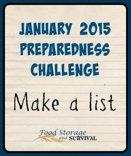 Join in on the January preparedness challenge!  Get prepped and win prizes!