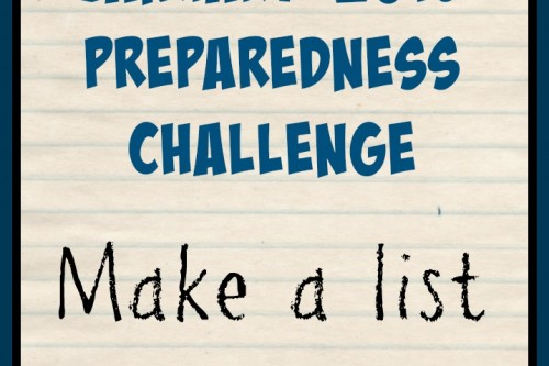 January 2015 Monthly Challenge: Make a List