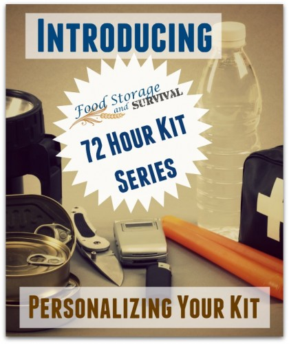 Build your 72 Hour Emergency Kit with this awesome series at foodstorageandsurvival.com