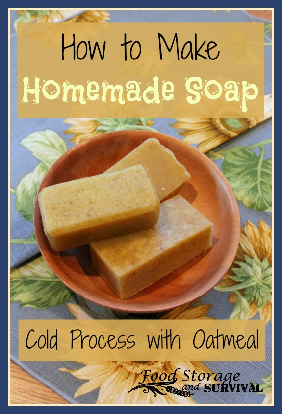 How to Make Soap: Cold Process with Oatmeal