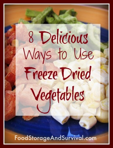 8 Delicious Ways to Use Freeze Dried Vegetables!  Not just for food storage!  Yum.