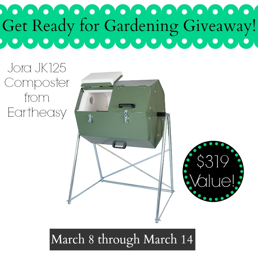 Get a Jump Start on Gardening with this Jora Drum style Composter Giveaway!